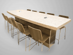 Boat Shaped Communal Table