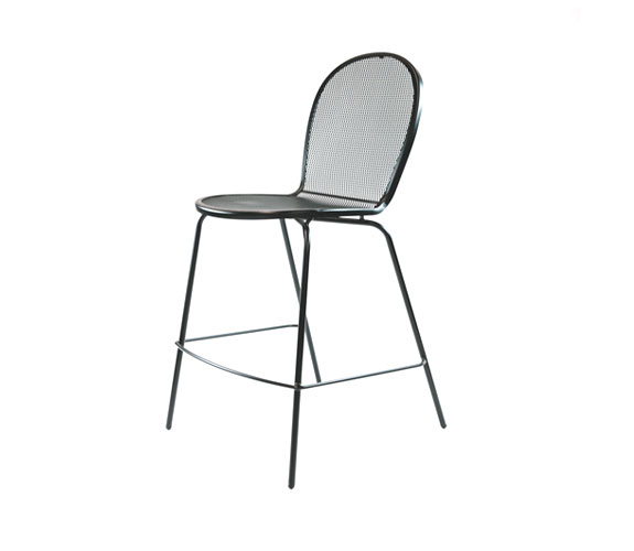 Contemporary Stacking Outdoor Stool with Steel Frame