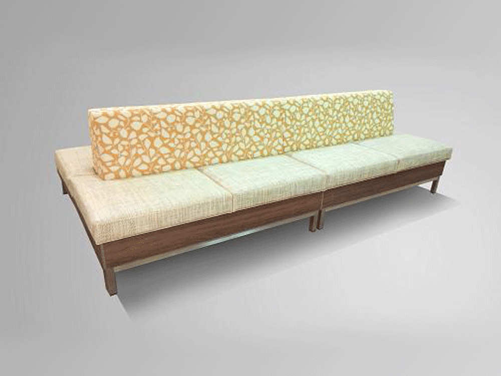 Double Sided Modular Bench Bellis Bgd Companies Inc