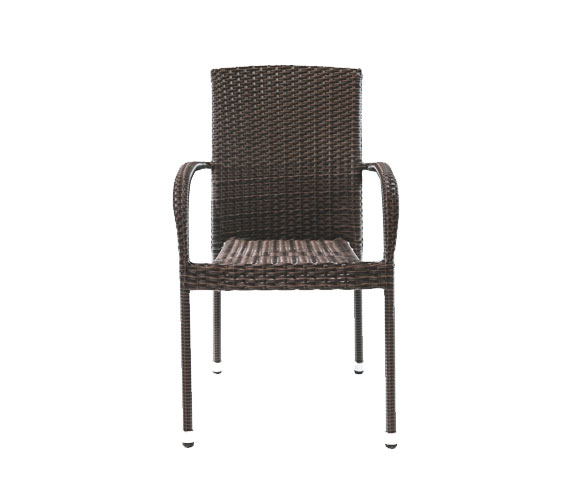Outdoor Stacking Woven Chair with Aluminum Frame