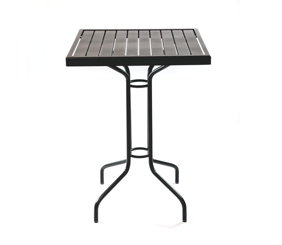 Outdoor Seating – Steel Slat Bar Height Table 30 x 30