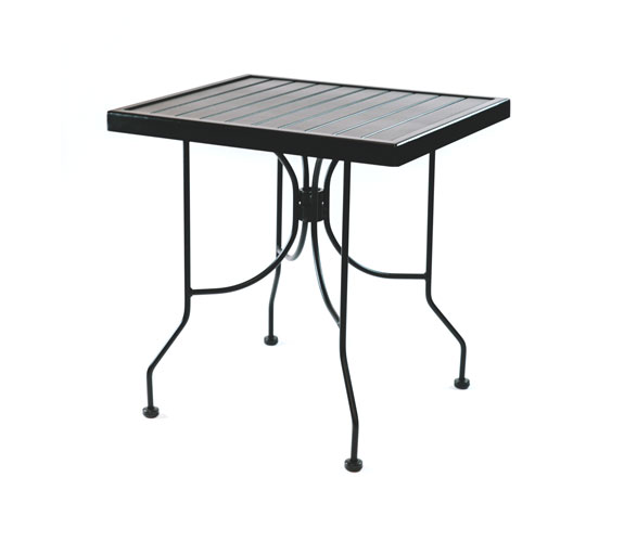 Outdoor Seating – Steel Slat Table 24 x 30