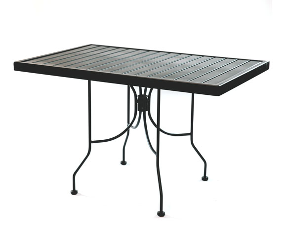 Outdoor Seating – Steel Slat Table 30 x 48