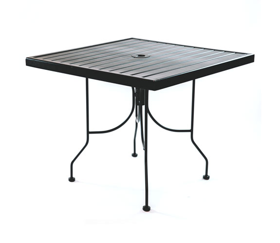 Outdoor Seating – Steel Slat Table 36 x 36