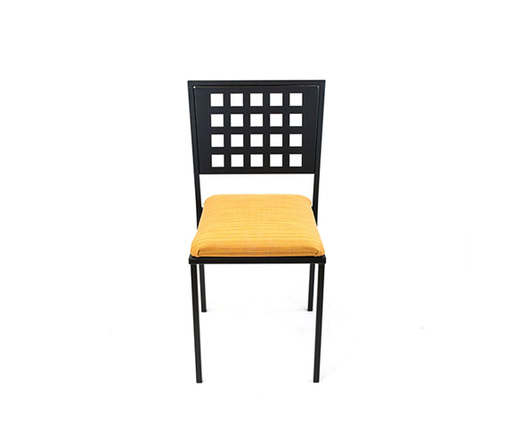 Standard Outdoor Side Chair with Upholstered Seat